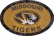 "Missouri Tigers 46"" Team Color Oval Sign"