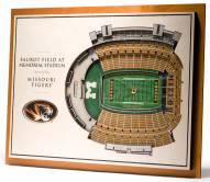 Missouri Tigers 5-Layer StadiumViews 3D Wall Art