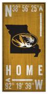 "Missouri Tigers 6"" x 12"" Coordinates Sign"