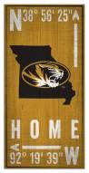 "Missouri Tigers 6"" x 12"" Coordinates Sign"