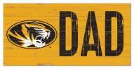 """Missouri Tigers 6"""" x 12"""" Dad Sign"""