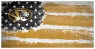 """Missouri Tigers 6"""" x 12"""" Flag Sign"""