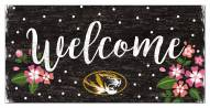 """Missouri Tigers 6"""" x 12"""" Floral Welcome Sign"""
