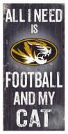 """Missouri Tigers 6"""" x 12"""" Football & My Cat Sign"""