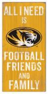 """Missouri Tigers 6"""" x 12"""" Friends & Family Sign"""