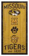 "Missouri Tigers 6"" x 12"" Heritage Sign"