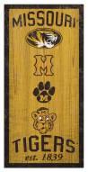 "Missouri Tigers 6"" x 12"" Heritage Sign"