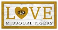 """Missouri Tigers 6"""" x 12"""" Love Sign"""