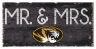 """Missouri Tigers 6"""" x 12"""" Mr. & Mrs. Sign"""