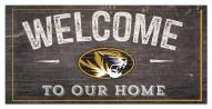 """Missouri Tigers 6"""" x 12"""" Welcome Sign"""