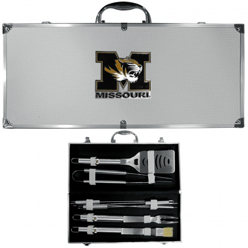 Missouri Tigers 8 Piece Stainless Steel BBQ Set w/Metal Case