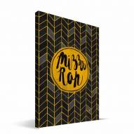 "Missouri Tigers 8"" x 12"" Geometric Canvas Print"