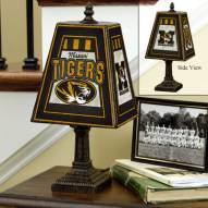 Missouri Tigers Art Glass Table Lamp