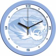 Missouri Tigers Baby Blue Wall Clock