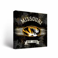 Missouri Tigers Banner Canvas Wall Art