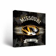 Missouri Tigers Banner Canvas Wall Art