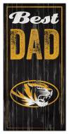 Missouri Tigers Best Dad Sign