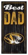 Missouri Tigers Best Dad Sign