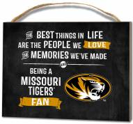 Missouri Tigers Best Things Small Plaque