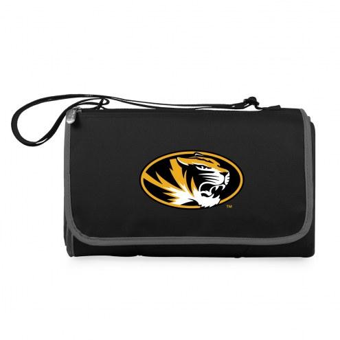 Missouri Tigers Black Blanket Tote
