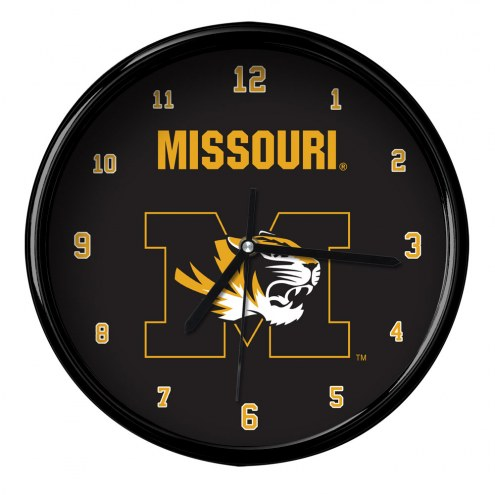 Missouri Tigers Black Rim Clock