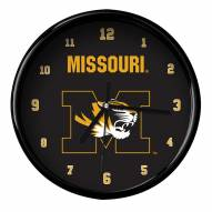 Missouri Tigers Black Rim Clock