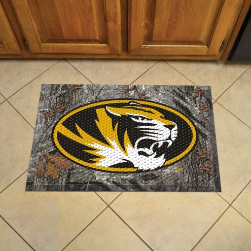 Missouri Tigers Camo Scraper Door Mat