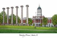 Missouri Tigers Campus Images Lithograph
