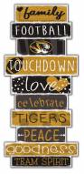 Missouri Tigers Celebrations Stack Sign