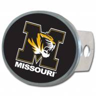 Missouri Tigers Class II and III Oval Metal Hitch Cover