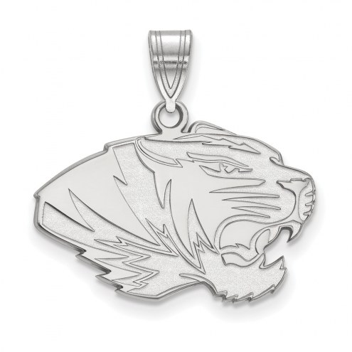 Missouri Tigers Sterling Silver Medium Pendant