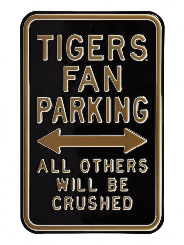 Missouri Tigers Crushed Parking Sign