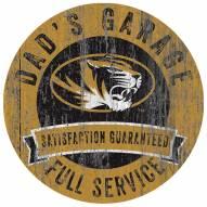 Missouri Tigers Dad's Garage Sign