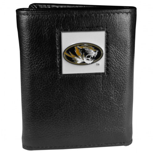 Missouri Tigers Deluxe Leather Tri-fold Wallet in Gift Box