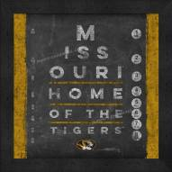 Missouri Tigers Eye Chart