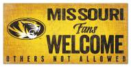 Missouri Tigers Fans Welcome Sign