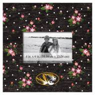 """Missouri Tigers Floral 10"""" x 10"""" Picture Frame"""