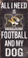 Missouri Tigers Football & Dog Wood Sign