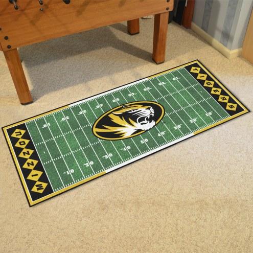 Missouri Tigers Football Field Runner Rug