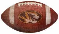 Missouri Tigers Football Shaped Sign
