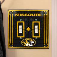 Missouri Tigers Glass Double Switch Plate Cover