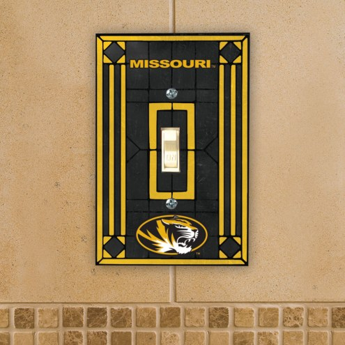 Missouri Tigers Glass Single Light Switch Plate Cover