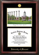 Missouri Tigers Gold Embossed Diploma Frame with Lithograph