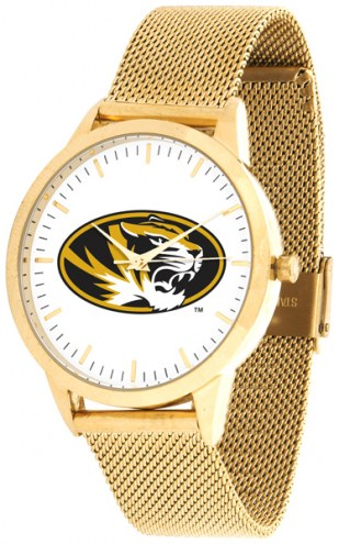 Missouri Tigers Gold Mesh Statement Watch