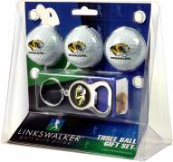 Missouri Tigers Golf Ball Gift Pack with Key Chain