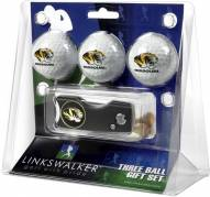 Missouri Tigers Golf Ball Gift Pack with Spring Action Divot Tool