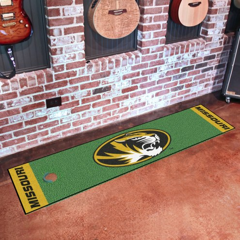 Missouri Tigers Golf Putting Green Mat