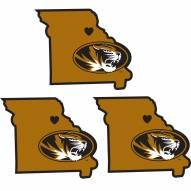 Missouri Tigers Home State Decal - 3 Pack
