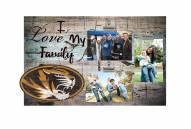 Missouri Tigers I Love My Family Clip Frame