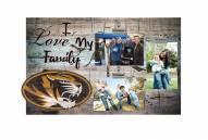 Missouri Tigers I Love My Family Clip Frame